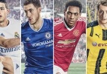 James Rodríguez, Eden Hazard, Anthony Martian y Marco Reus en FIFA 17.